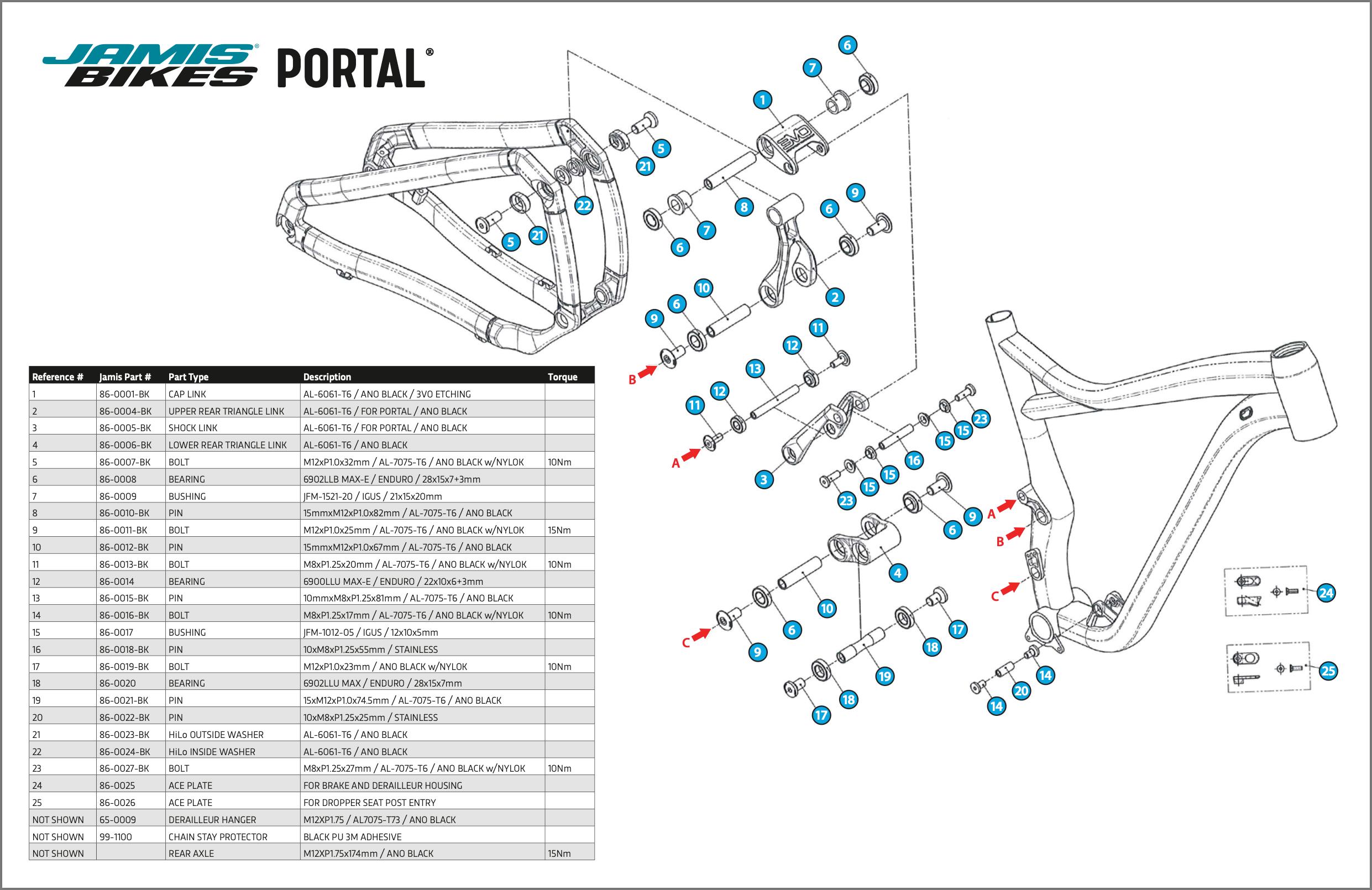 Jamis® Bikes Portal® 3VO Frame Parts